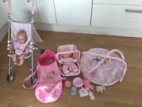 Used, Baby Annabel pushchair, doll, playgym, carrier lots of accessorries for sale  Truro, Cornwall