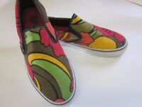 VANS Brightly Coloured Slip-On Shoes. Almost perfect condition