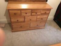 9 Drawer Oak Chest