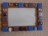 BLUE STONE ORNATE PICTURE FRAME
