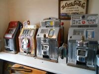 WANTED OLD SLOT MACHINES BY PRIVATE COLLECTOR ALLWINS JUKEBOXS BANDITS