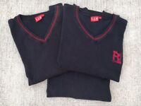 3 Radyr Comp (Yrs 9,10 or 11) boys jumpers