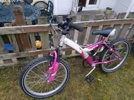 "Mountain bike Front suspension 20"" wheels 6 speed"