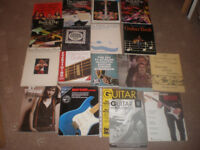 Guitar learning / playing / instruction / song books - various as listed