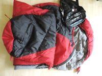 Child's sleeping bag 165 cm long. Blue Mountain.