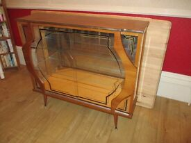 Glass display Unit / cabinet vintage 50/60's