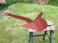 Plough type boat anchor