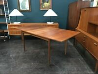Extending Teak Dining Table by Greaves & Thomas. Retro Vintage Mid Century. Danish Style