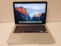 macbook pro 13 retina 2014.8gb ram 256 gb ssd