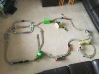 Thomas Trackmaster train set bundle :- 3 train sets plus various trains and carriages