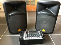 Behringer EPS500 speakers and PA. Good condition