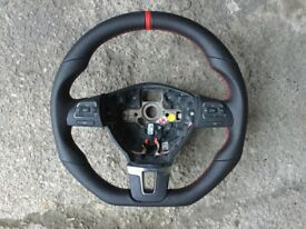 VW GOLF MK6 EOS PASSAT TOURAN R-LINE R32 GTI GT NEW CUSTOM MADE STEERING WHEEL
