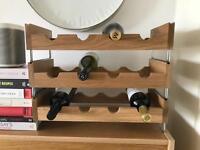 House by John Lewis Oak Wine Rack x 3