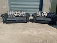 Grey Harvey's 3&2 seater sofas, couches, furniture, couches,🚛🚚🚚