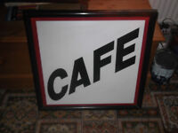For Sale an Outdoor Cafe Sign