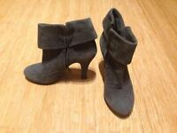 Grey suede ankle boots (size 3)