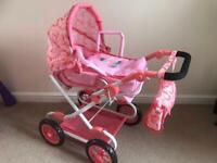 Baby Annabell Delux Pram - like new