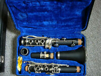 Clarinet with reeds, mouthpiece, case, cleaning accessories etc- all you need to get you started