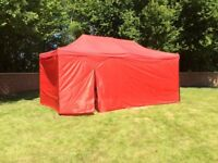 gazebo awning 3m x 6m green with sides and door new boxed pop up and 3 hight settings,check my other