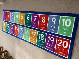 Children's Rug with Numbers 1-20