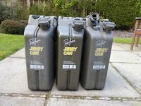 3 High Quality 20 Litre Paddy Hopkirk Jerry Cans for sale