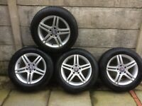 Genuine Mercedes 16x7.0 JJ Alloy Rims & All Weather Tyres