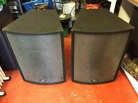 "Peavey UL 15 PA Speakers 1000 watts prog 4 ohms 15"" BW drivers"