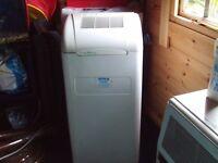 Portable air conditioning unit. Euro-Breeze make model EB 8 A.