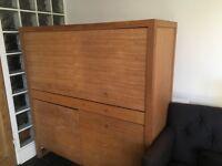 Solid Oak Habitat Computer Cabinet