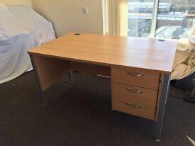 2 x Office Desks & 1 x Office Cupboard