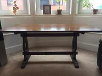 Vintage Jaycee Solid Oak Dining Table