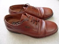 MEN'S SHOES, BROWN LEATHER, FLUCHOS SIZE 7 (41). VERY GOOD CONDITION.