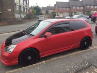 Stunning Honda Civic Type-R 2.0 Liter RED/BLACK, Well looked after.