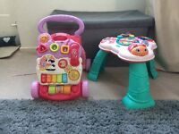 Play table and walker