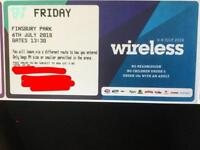 ONE SOLD. THANK YOU FOR LOOKING. WIRELESS TICKET this Friday 6th July