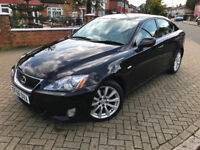 2006 (56) LEXUS IS 250 2.5 PETROL AUTOMATIC BLACK WITH CREME LEATHER INTERIOR FULL SERVCIE HISTORY