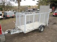 GALVANISED 8 X 3-6 CAGED TRAILER 1300KG BRAKED WITH ALLOY RAMPTAIL..