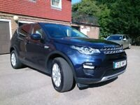 LANDROVER DISCOVERY SPORT HSE 2L TD4. Metallic Blue, Full leather, heated seats and privacy windows