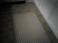 Ikea Rug in beige and cream stripe. NEW. Never used. 5ft 11'' long