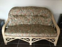 Cane suite of high quality in excellent condition. Sofa and two chairs all in as new condition.