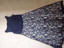 Size 14 Blue Lace Dress