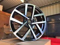 """18"""" Inch Wheels VW GTD 7.5 'JURVA'- Black Machined Finish! 5x112"""
