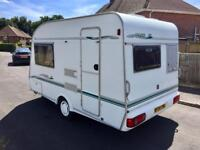 Crown caravan 2 berth 16ft overall length including A-frame