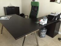 Ikea desk, chair and drawer unit