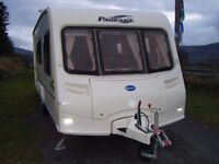 Bailey Pageant 4 Berth Caravan with Porch Awning