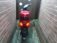 electric scooter/moped with new cover helmet lock and 4 spare batteries charger