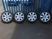 """**4 x 20"""" Genuine Land Rover Range Rover Alloy Wheels With Tyres - 5x120 - VW Transporter**"""