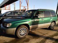 Subaru Forester 1999 2.5l non turbo auto. Spares or repair £150