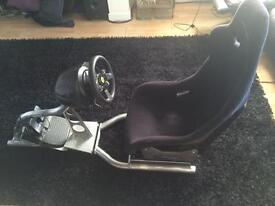 Gaming chair and t300 wheel