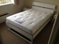 Sealy Backcare Firm Mattress and Double Bed Ikea Trysil in Excellent Condition!!